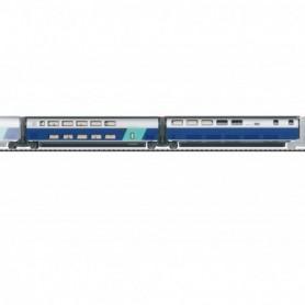 Trix 23489 Add-On Car Set 3 for the TGV Euroduplex