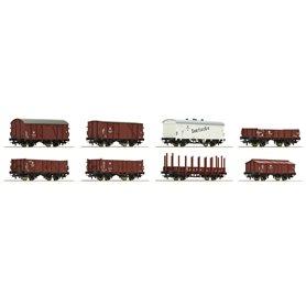 Roco 67127 Vagnsset med 8 godsvagnar DR