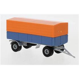 Brekina 55331 Släp, 2-axligt, orange/blå 1960