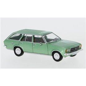 Brekina 870022 Opel Rekord D Caravan, metallic-ljusgrön, 1972