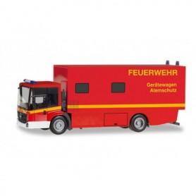 Herpa 095723 Mercedes-Benz Econic box truck 'Feuerwehr Gerätewagen Atemschutz'