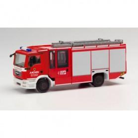 Herpa 095730 MAN TGS Ziegler Z-Cab fire truck HLF 20 'Feuerwehr Aachen | Verlautenheide'
