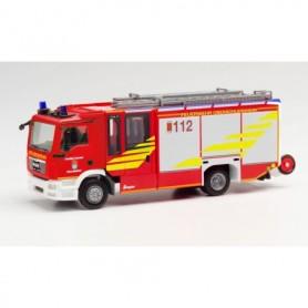 Herpa 095778 MAN TGS M Ziegler Z-Cab fire truck HLF 20 'Feuerwehr Oberschleissheim'