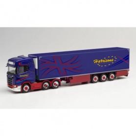 Herpa 312738 Scania CS 20 HD refrigerated box semitrailer 'Harrisons' (Großbritannien|Preston)