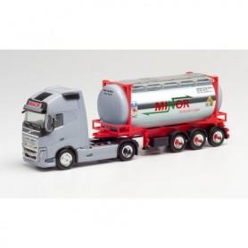 Herpa 312844 Volvo FH Gl. XL swap container semitrailer 'Minor' (Nordrhein-Westfalen|Gelsenkirchen)