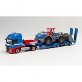 Herpa 312851 Iveco Stralis NP with Goldhofer allrounder and Liebherr wheel loader 'Riwatrans'