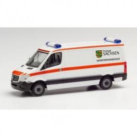 Herpa 095839 Mercedes-Benz Sprinter 13 box low roof 'Freistaat Sachsen | Katrastrophenschutz'