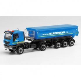 Herpa 312875 Iveco Trakker round trough semitrailer truck 'Felbermayr' (Österreich|Wels)