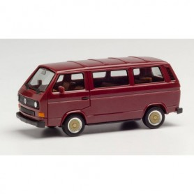 Herpa 420914 VW T3 Bus with BBS wheels, wine red