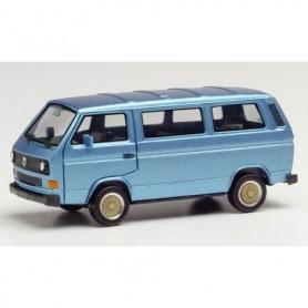 Herpa 430876 VW T3 Bus with BBS wheels, blue metallic