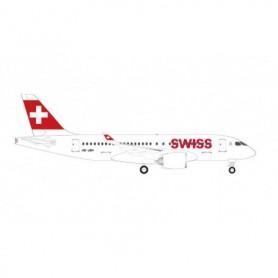 Herpa Wings 530736-001 Flyplan Swiss International Air Lines Airbus A220-100 - HB-JBH 'Ascona'