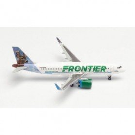 Herpa Wings 534833 Flyplan Frontier Airlines Airbus A320neo - N301FR 'Wilbur the Whitetail'