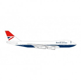Herpa Wings 534857 Flyplan British Airways Boeing 747-100 '747 Farewell' – G-AWNN 'Sebastian Cabot'