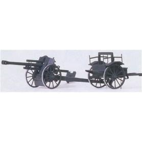 Preiser 16527 Light Field Howitzer 10,5 cm leFH 18 M, plastbyggsats med tillbehör