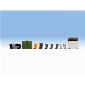 Noch 14825 Skräpcontainers och avfallsbehållare, 10-delar