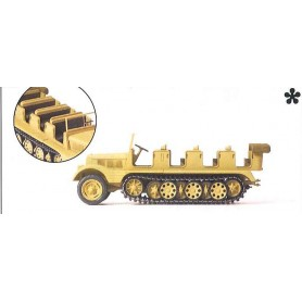 Preiser 16544 Half-track SdKfz 11 German 1939-45 (engineer version), plastbyggsats
