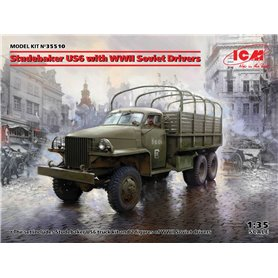ICM 35510 Studebaker US6 with WWII Soviet Drivers