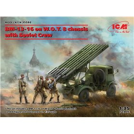 ICM 35592 BM-13-16 on W.O.T. 8 chassis with Soviet Crew