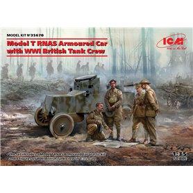 ICM 35670 Model T RNAS with WWI British Tank Crew
