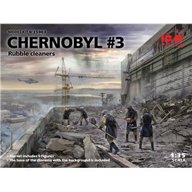 ICM 35903 Figurer Chernobyl 3. Rubble cleaners