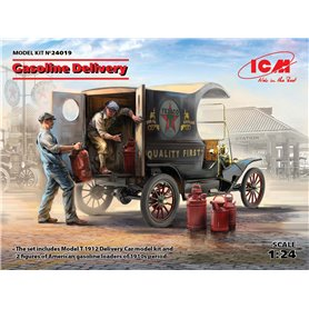 ICM 24019 Gasoline Delivery, Model T 1912 Delivery Car with American Gasoline Loaders