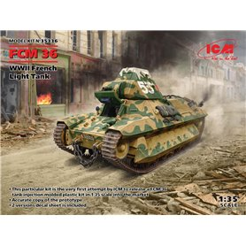 Tanks FCM 36 WWII French Light Tank