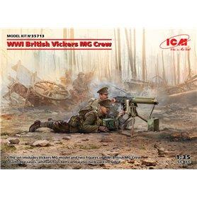 WWI British Vickers MG Crew Vickers MG & 2 figures