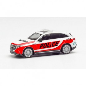 "Herpa 095976 Mercedes-Benz EQC ""Swiss police expierence vehicle"""