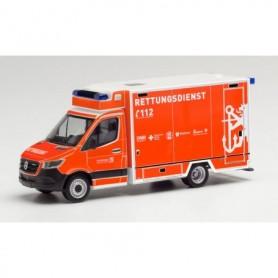 """Herpa 096027 Mercedes-Benz Sprinter 18 Fahrtec ambulance """"Feuerwehr Düsseldorf"""""""