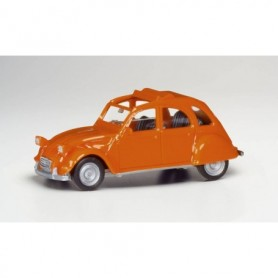 Herpa 020824-006 Citroen 2 CV with folding top open, orange red