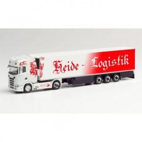"Herpa 312950 Scania CS 20 HD refrigerated box semitrailer ""Heide Logistik"" (Niedersachsen|Kirchlinteln)"