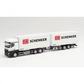 "Herpa 312967 Mercedes-Benz Actros Bigspace interchangeable box trailer ""DB Schenker"""