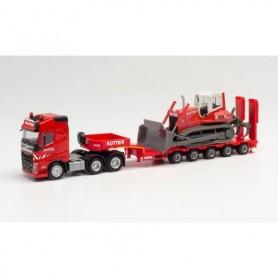 "Herpa 312981 Volvo FH Gl. 6x4 low boy semitrailer with bulldozer ""Kutter"" (Bayern|Memmingen)"
