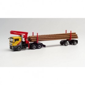 "Herpa 312998 MAN TGX L Doll long timber transporter ""Mengel Holztransporte"" (Hessen|Burgwald)"