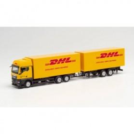 "Herpa 313049 MAN TGX GX interchangeable box trailer ""DHL"""