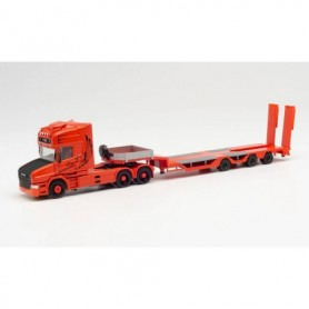 "Herpa 313070 Scania conventional TL low Boy semitrailer ""Spezialtransporte Sturm"" (Bayern|Neufahrn)"
