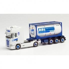 "Herpa 313162 Scania CS 20 HD tank container semitrailer ""BBLogistics"" (Nordrhein-Westfalen|Kempen)"
