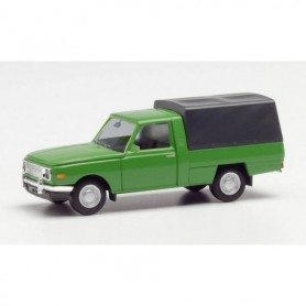 Herpa 420945 Wartburg 353 Trans 66 with canvas cover, green
