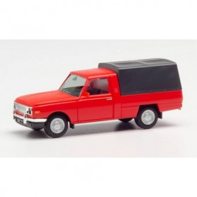 Herpa 420952 Wartburg 353 Trans 66 with canvas cover, red