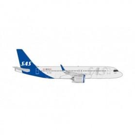 Herpa Wings 534963 Flygplan SAS Airbus A320neo, new Colors 'Kraka Viking'