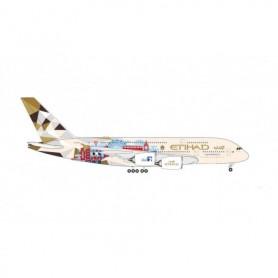 Herpa Wings 535007 Flygplan Etihad Airways Airbus A380 'Choose the United Kingdom'