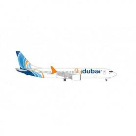 Herpa Wings 535076 Flygplan Fly Dubai Boeing 737 Max 9