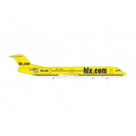 Herpa Wings 571258 Flygplan Hapag-Lloyd Express Fokker 100