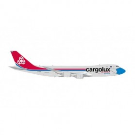 Herpa Wings 571272 Flygplan Cargolux Boeing 747-8F 'Not Without My Mask'
