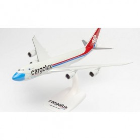 Herpa Wings 613118 Flygplan Cargolux Boeing 747-8F 'Not Without My Mask'