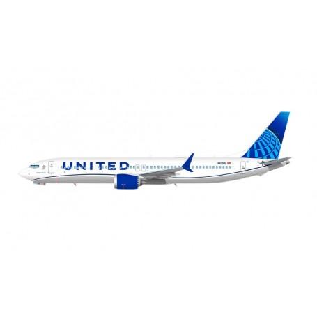 Herpa Wings 613149 Flygplan United Airlines Boeing 737 Max 9