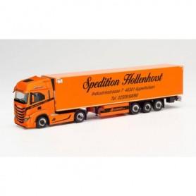 """Herpa 313476 Iveco S-Way refrigerated box semitrailer """"Spedition Hollenhorst"""" (Nordrhein-Westfalen Nottuln)"""