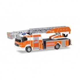 "Herpa 096119 Mercedes-Benz Atego Rosenbauer turnable ladder ""fire brigade Kassel"""