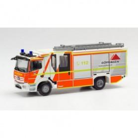 """Herpa 096126 Mercedes-Benz Atego `13 Ziegler Z-Cab emergency fire engine """"fire brigade Göppingen"""""""