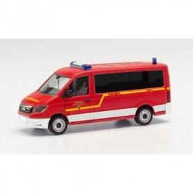"""Herpa 096157 MAN TGE bus flat roof 'fire department Goslar"""" (Niedersachsen Goslar)"""